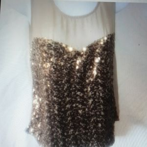 KUT FROM KLOTH SPARKLY  SHEER TANK S